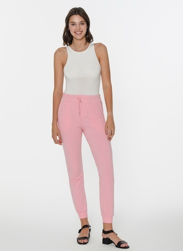 Loves You Paçası Lastikli Sweatpant Pembe